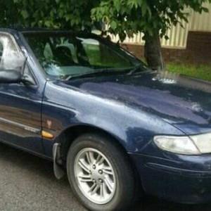 1997 Ford Falcon EL Classic Blue 4 Speed Automatic Sedan