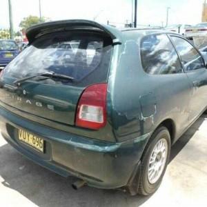 1998 Mitsubishi Mirage CE Green 4 Speed Automatic Hatchback