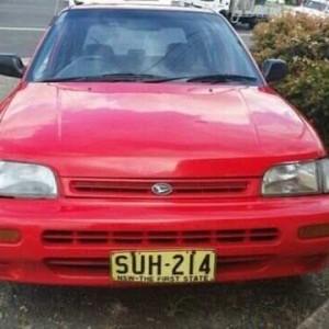 1993 Daihatsu Charade CS Red 3 Speed Automatic Hatchback