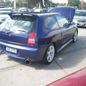1998 Mitsubishi Mirage CE Blue 4 Speed Automatic Hatchback