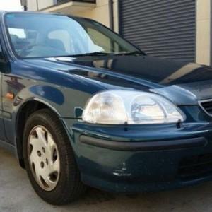 1997 Honda Civic GLI Green 5 Speed Manual Sedan
