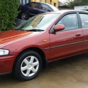 1998 Mazda 323 Protege Burgundy 4 Speed Automatic Sedan