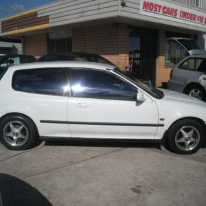 1993 Honda Civic GL White 5 Speed Manual Hatchback