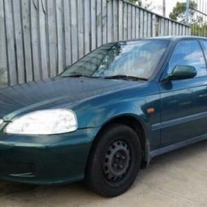 1999 Honda Civic GLI Blue 5 Speed Manual Sedan