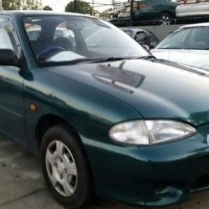 1999 Hyundai Excel X3 Sprint Green 4 Speed Automatic Hatchback