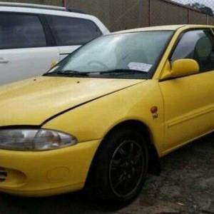 2001 Proton Satria XLI Yellow 3 Speed Automatic Hatchback