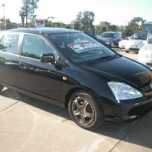 2000 Honda Civic 7TH GEN VI Black 5 Speed Manual Hatchback