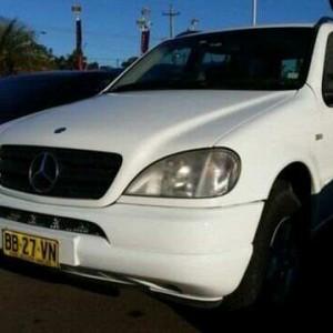 1999 Mercedes-Benz ML 320 Luxury (4×4) White 5 Speed Auto Tipshift Wagon