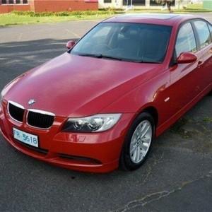 2007 BMW 320i E90 MY08 Executive Steptronic Red 6 Speed Sports Automatic Sedan