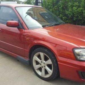 2002 Subaru Liberty MY02 RX Red 4 Speed Automatic Sedan