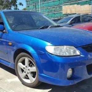 2003 Mazda 323 Protege SP20 Blue 5 Speed Manual Sedan