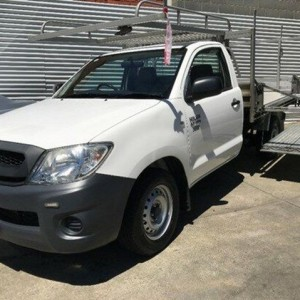 2011 Toyota Hilux TGN16R MY10 Workmate White 5 Speed Manual Cab Chassis