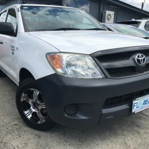 2006 Toyota Hilux TGN16R MY05 Workmate White 5 Speed Manual Utility