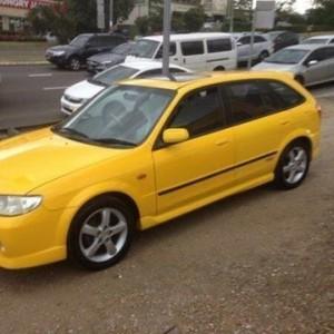 2003 Mazda 323 Astina SP20 Yellow 5 Speed Manual Hatchback