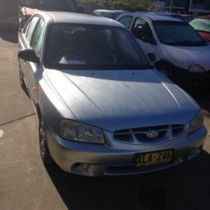 2001 Hyundai Accent LC GLS Silver 4 Speed Automatic Hatchback