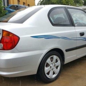2003 Hyundai Accent LS 1.6 Silver 4 Speed Automatic Hatchback