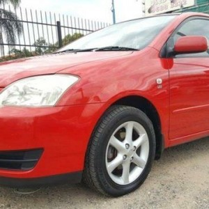 2004 Toyota Corolla ZZE122R Ascent Sport Seca Red 4 Speed Automatic Hatchback