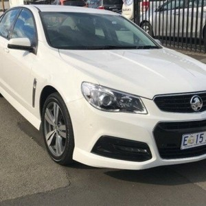 2014 Holden Commodore VF MY15 SV6 White 6 Speed Sports Automatic Sedan