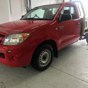 2007 Toyota Hilux GGN15R MY08 SR Red 5 Speed Manual Cab Chassis