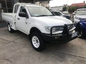2011 Mitsubishi Triton MN MY12 GLX White 5 Speed Manual Cab Chassis