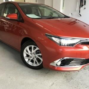 2015 Toyota Corolla Ascent Sport S-CVT Orange 7 Speed Constant Variable Hatchback