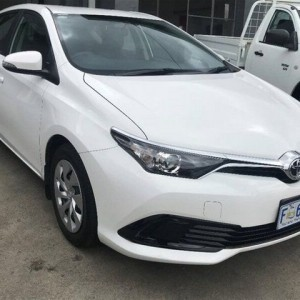 2015 Toyota Corolla Ascent S-CVT White 7 Speed Constant Variable Hatchback