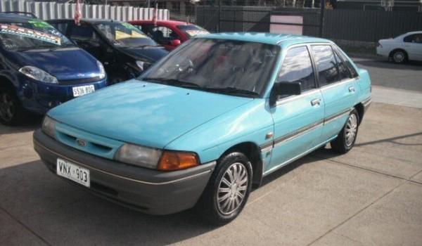 1992 Ford Laser KH GL Blue 3 Speed Automatic Hatchback