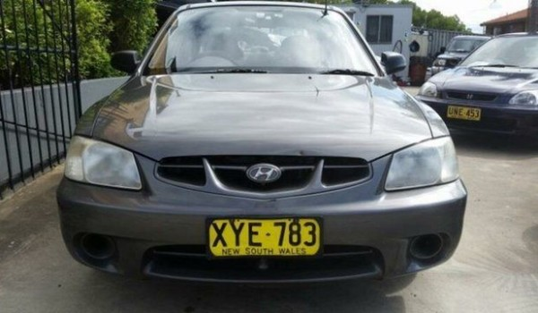 2001 Hyundai Accent LC GL Grey 5 Speed Manual Hatchback