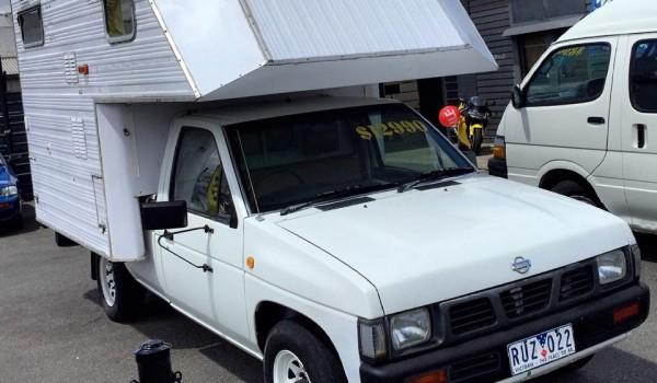 Nissan NAVARA utility with SLIDE ON CAMPER
