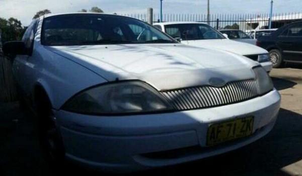 1999 Ford Falcon AU Forte White 4 Speed Automatic Sedan