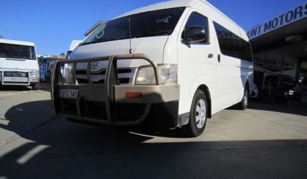 2011 Toyota Hiace KDH223R Commuter White 5 Speed Manual Bus