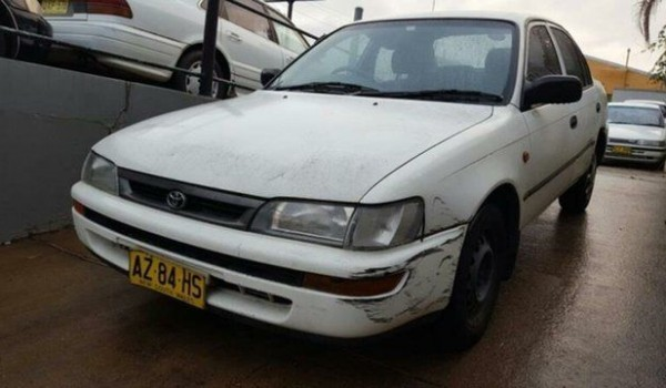 1998 Toyota Corolla AE102R Conquest White 4 Speed Automatic Sedan