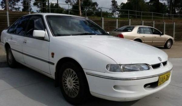 1995 Holden Calais VS White 4 Speed Automatic Sedan