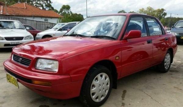 1994 Daihatsu Applause Executive Red 5 Speed Manual Sedan