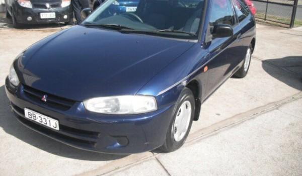2001 Mitsubishi Mirage CE Blue 5 Speed Manual Hatchback
