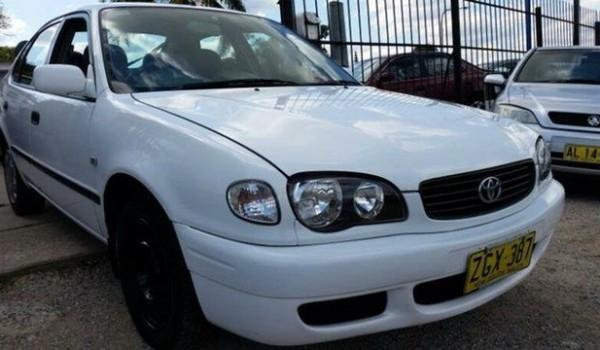 2001 Toyota Corolla AE112R Ascent Seca White 4 Speed Automatic Liftback