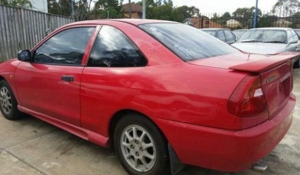 2000 Mitsubishi Lancer CE GLI Red 4 Speed Automatic Coupe