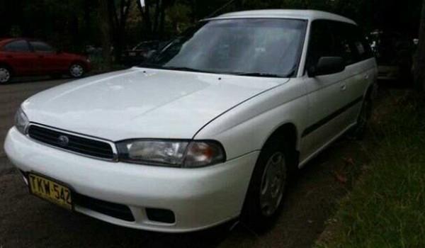 1995 Subaru Liberty LX White 5 Speed Manual Wagon