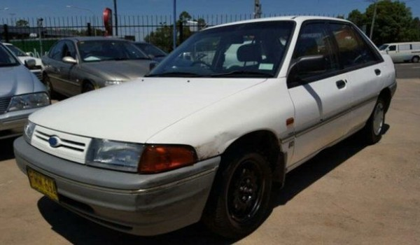 1990 Ford Laser KF GL White 3 Speed Automatic Hatchback