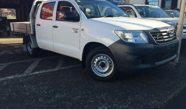 2012 Toyota Hilux TGN16R MY12 Workmate Double Cab Glacier White 4 Speed Automatic Utility