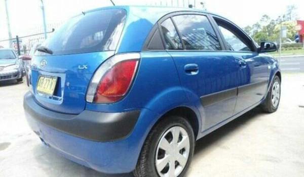2007 Kia Rio JB LX Blue 4 Speed Automatic Hatchback