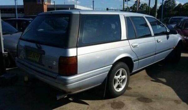 1996 Ford Falcon EL Futura Blue 4 Speed Automatic Wagon