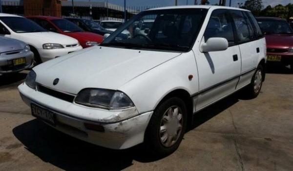 1990 Holden Barina MF White 3 Speed Automatic Hatchback